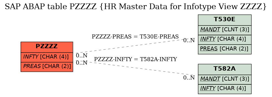 SAP ABAP Table PZZZZ (HR Master Data for Infotype View ZZZZ) - SAP