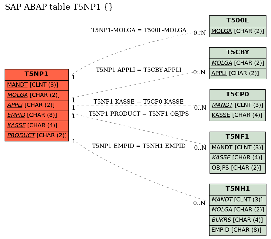 E-R Diagram for table T5NP1 ()